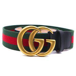 Marmont Gg Stripe Gold Buckle Size 85 34 Belt